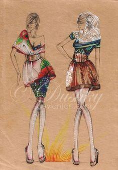 croquis e Ilustrações de Moda | Criatives | Blog Design, Inspirações, Tutoriais, Web Design