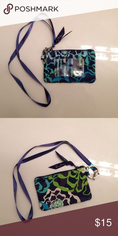 Vera Bradley Zip case (3x5) with lanyard Vera Bradley Accessories