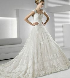 Designer Wedding Dresses 2012 | Satin overlay lace sweep train wedding dress dwd wedding dresses ...
