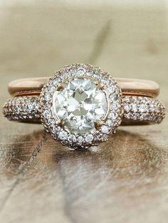 My ring. Plain Gold Band against diamond band http://shop.kenanddanadesign.com/
