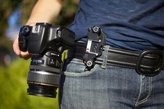 Camera Support Clip... This thing ROCKS! Capture by Peak Design Hands-free camera holster for your bag strap or belt. ~j.j.