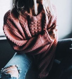 Distressed + knit.