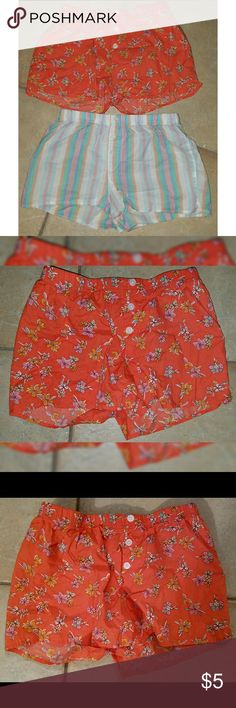 Xhilaration Sleepwear Boxer Shorts XS 2 pair of Xhilaration Sleepwear Boxer Shorts XS. Never worn. Washed never worn.  Excellent Condition NO flaws  Comes from CLEAN and Smoke Free Home Xhilaration Intimates & Sleepwear Pajamas