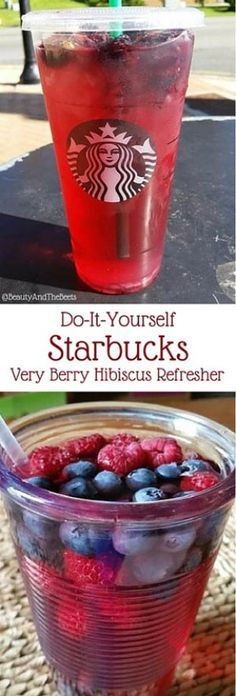 Do-it-yourself Starbucks very berry hibiscus refresher Beauty and the Beets - Rezepte Bow Refreshing Drinks, Fun Drinks, Yummy Drinks, Beverages, Copo Starbucks, Starbucks Coffee, Starbucks Food, Healthy Starbucks Drinks, Healthy Drinks