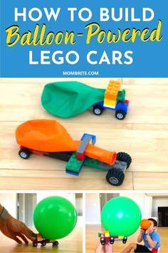 How to Build Balloon-Powered LEGO Cars