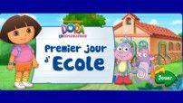 Le premier jour d'école (jeu) Révision chiffres+vocab école (sac, colle, crayon etc...)