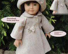 Doll Clothes PDF Pattern for 18'' American Girl by NVME AG-2