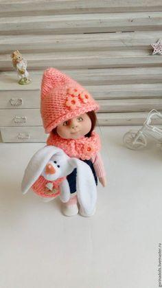 Купить Текстильная кукла -малышка.Юлька - комбинированный, персиковый, кукла, кукла в подарок, текстильная кукла