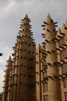 Africa | Detail from a mosque. Niger Delta, Mali | Image ©Michel Renaudeau