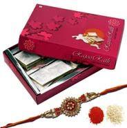 Send Rakhi N Kaju Katli online to your loving brother.