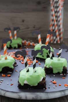 55 Fun Halloween Snacks for Kids to Devour This October Halloween Treats for Kids Melted Witch Brownies Halloween Brownies, Halloween Desserts, Halloween Cupcakes, Halloween Snacks For Kids, Halloween Goodies, Halloween Ideas, Happy Halloween, Halloween Decorations, Snacks Kids