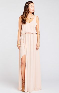 Kendall Maxi Dress ~ Dusty Blush Crisp