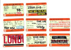 Train ticket art from Daniela, a student at Winchester   http://lizplummer.com
