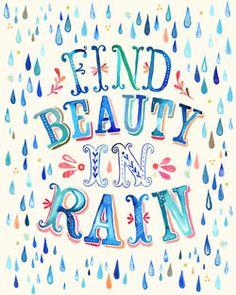 .beauty in rain