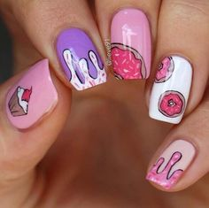 May 2020 - 21 Super Cute Birthday nails design easter Cute Nail Art, Cute Nails, Pretty Nails, My Nails, Matte Nails Glitter, Best Acrylic Nails, Birthday Nail Designs, Birthday Nails, Girls Nail Designs