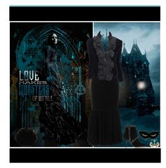 """""""Indulge Your Dark Side with Crimson Peak : Contest Entry"""" by yours-styling-best-friend ❤ liked on Polyvore featuring Christopher Kane, L'Agent By Agent Provocateur, Charlotte Olympia, Renaud Pellegrino, Palm Beach Jewelry, Givenchy, Yves Saint Laurent and vintage"""