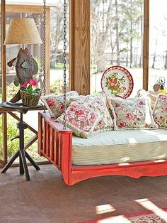 Porch swing bed...love it!