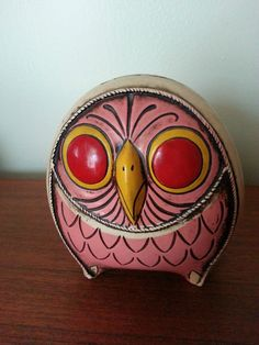 Rare Vintage 60'S Japan Pride Creations Hand Painted Coin Modern OWL | eBay