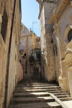 Steep stairs, narrow streets and alleyways reveal Ragusa's Medieval city planning. - See more at: http://chambersarchitects.com/blog/247-ragusa-ibla-sicily-baroque-city-with-an-ancient-past.html#sthash.JGjMSNa7.dpuf And read all of our blogs at: http://chambersarchitects.com/blog.html