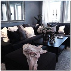 black and gray living room decorating ideas how to decorate wall white interior design home pinterest awesome 80 best small apartment rooms from across the world https carribeanpic