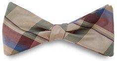 Silk Plaid Bow Tie - Limited edition vintage silk plaid bow tie by J. Thomson - shop.Lavaguy.com