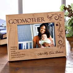 Personalized Godparent Picture Frames - Godfather, Godmother - 8299
