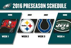 2016 Philadelphia Eagles preseason schedule