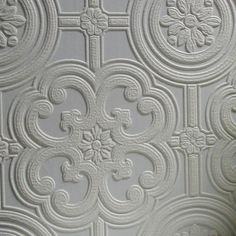 Brewster Home Fashions Anaglypta Paintable Egon x Floral and Botanical Embossed Wallpaper Vinyl Wallpaper, Paintable Textured Wallpaper, Wallpaper Ceiling, Brick Wallpaper Roll, Damask Wallpaper, Embossed Wallpaper, Wallpaper Panels, Wallpaper Samples, Geometric Wallpaper