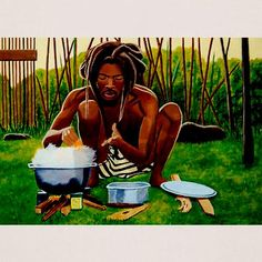 The goal of Ital Cooking is to increase Livity or the life energy that Rastas believe lives within all human beings as conferred from the Almighty. Food should be natural or pure and from the earth. Caribbean Art, Caribbean Recipes, Rastafarian Culture, Ital Food, Rasta Art, Jah Rastafari, Jamaica Travel, Black Artwork, Jamaican Recipes