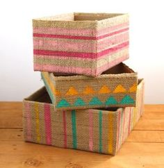 DIY Storage Boxes From Up-cycled Cardboard Boxes
