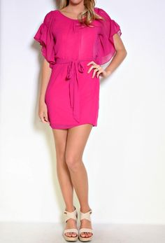 3/4 Sleeve Dress with Tie :) Love the colour :)