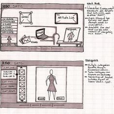 HBO SATC UI wireframe 25 Examples of Wireframes and Mockups Sketches