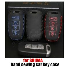 hot sale Case fit for KIA SHUMA car key case Hand sewing car key cover DIY car styling Genuine quality leather #Affiliate