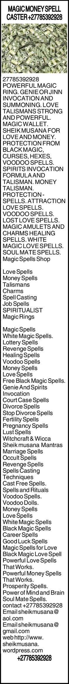 +27785392928 Money Magic, Magic Ring, How To Become Rich, Magic Spells, Wordpress, Ads, Wallet, Rings, How To Become Wealthy