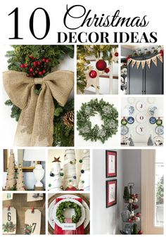 10 DIY Christmas Decor Ideas that are easy and budget friendly. Great inspiration!