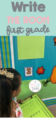 Write the room FUN Literacy activities for first grade students