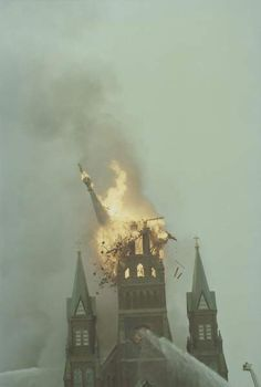 """Mary's burns"""" – that was the headline the morning after a blaze destroyed the downtown Catholic church on Sept. Santa Lucia, Sainte Cecile, Fort Wayne Indiana, Gothic Aesthetic, Rome, Dark Photography, Paladin, Throwback Thursday, Kirchen"""