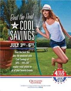 Beat the Heat with Cool Savings July 4th Weekend Sale.
