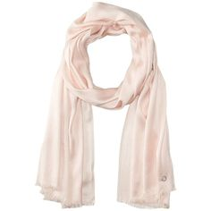 5ba97f46d3c Calvin Klein Solid Satin Finish Pashmina (Blush) ( 38) ❤ liked on Polyvore  featuring accessories