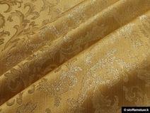 Stoff Polyester gold Jacquard gold Lurex Brokat