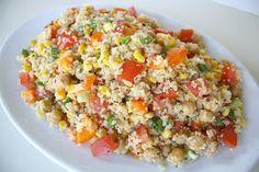 The Garden Grazer: Quinoa Vegetable Salad with Lemon-Basil Dressing