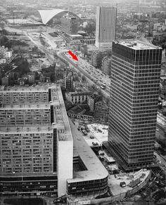 1966: La défense quartier Bellini, tours Nobel, Aquitaine et Esso, CNIT