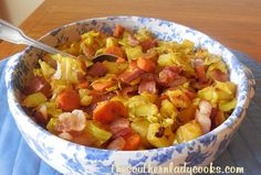 This Cabbage, Bacon and Potato Skillet is a quick and easy comfort food dish.  We love cabbage and adding bacon and potatoes just makes this vegetable even better.  You can't beat this with a big o...