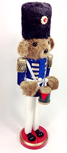 Large Unique Themed Decorative Holiday Season Wooden Christmas Nutcracker  Teddy Bear Blue >>> Want to know more, click on the image.