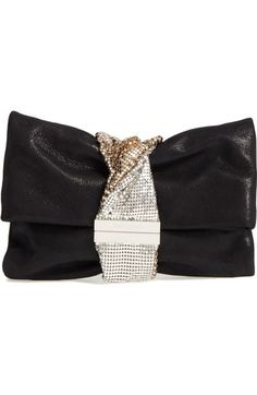 Jimmy Choo Chandra Shimmer Suede Clutch available at #Nordstrom