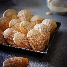 Coffee Madeleines - from Lakeland Köstliche Desserts, Delicious Desserts, Dessert Recipes, Yummy Food, Tea Cakes, Cupcakes, Cupcake Cakes, Madeline Cookies Recipe, Baking Recipes