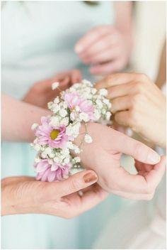 Wedding flowers bracelet bridemaid