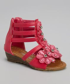 Another great find on #zulily! Fuchsia Floral Gladiator Sandal by Ameta Corporation #zulilyfinds