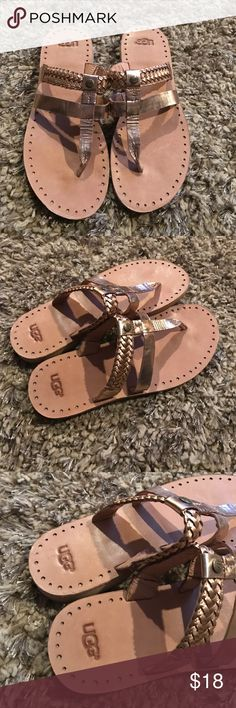 Ugg sandals Ugg copper braided sandals/flip flops in very good condition UGG Shoes Sandals