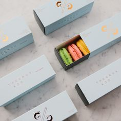 The Crux & Co. macaron packaging